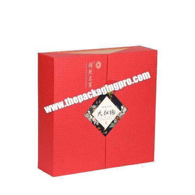 Supplier recyclable customized tea box paper packaging printed