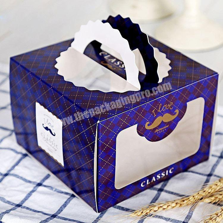Custom Recyclable White Paper Cake Boxes Custom Logo Printed Manufacture