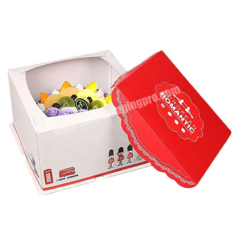 Wholesale Recyclable White Paper Cake Boxes Custom Logo Printed Manufacture