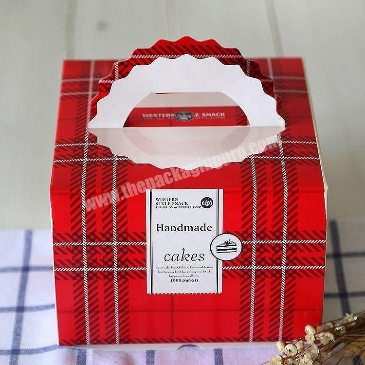 Supplier Recyclable White Paper Cake Boxes Custom Logo Printed Manufacture