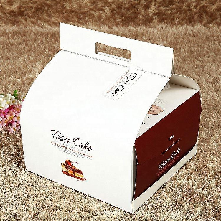 Manufacturer Recyclable White Paper Cake Boxes Custom Logo Printed Manufacture