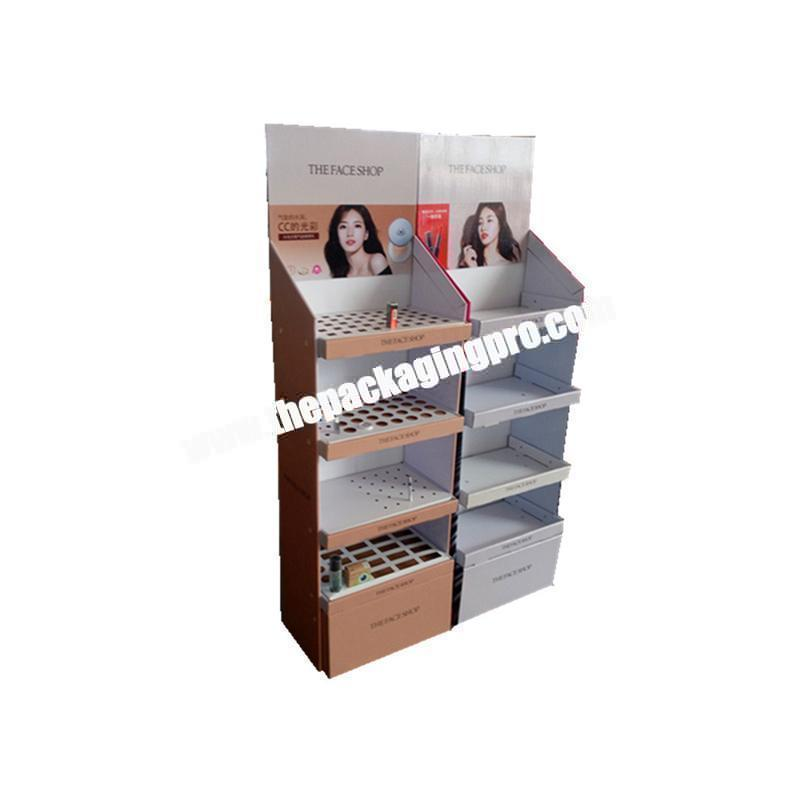 Recycled customized printing shop shelf display cosmetic