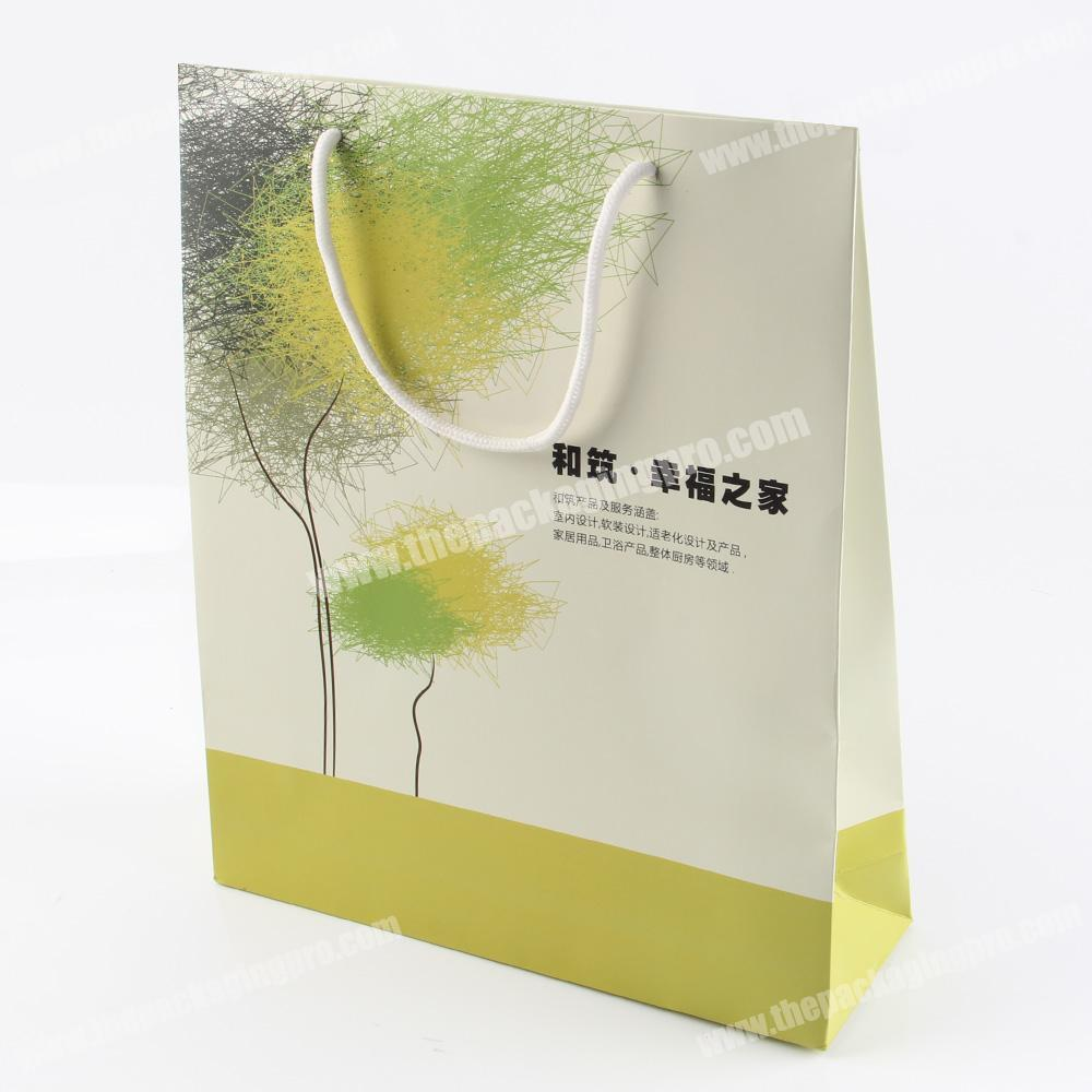 Recycled Japanese retail kraft gusset paper bags for cement
