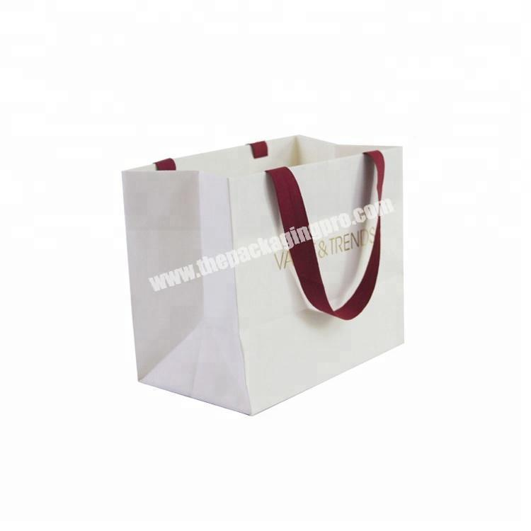 Retail Luxury Shopping Small White Paper Bag