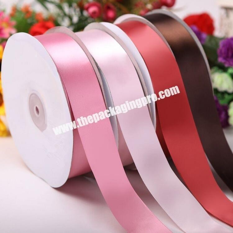 ribbon 18inch to 4 inch high quality  double and single  face 100% polyester  colorful satin ribbon for all kind of occasion