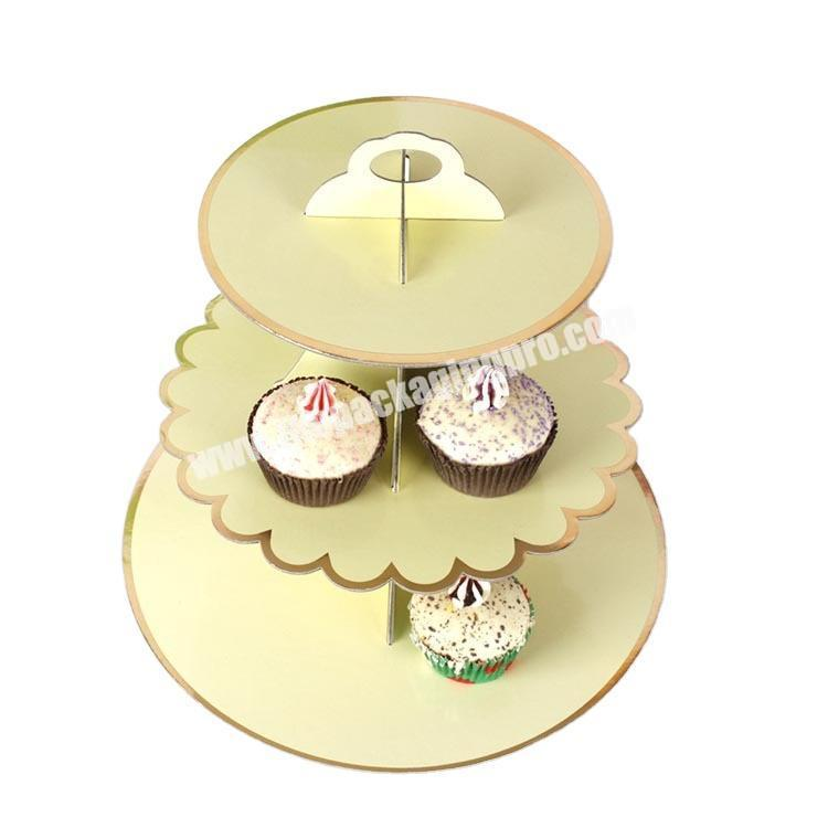 Rigid Cardboard Material Party 3 Layers Cake Dessert Display Stand