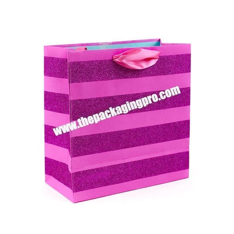 Rope Handle Laminated Customised Paper Bag with Logo