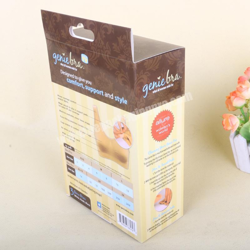 Wholesale SC Cheap Coated Paper Custom Design Bra Packaging Box With Window