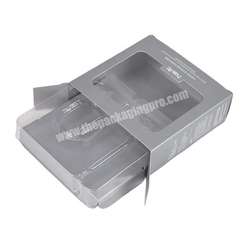 SC Cheap customized paper packaging box with blister insert
