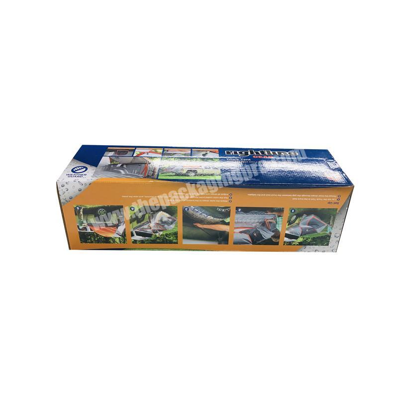 scarf packaging blue roof box tent