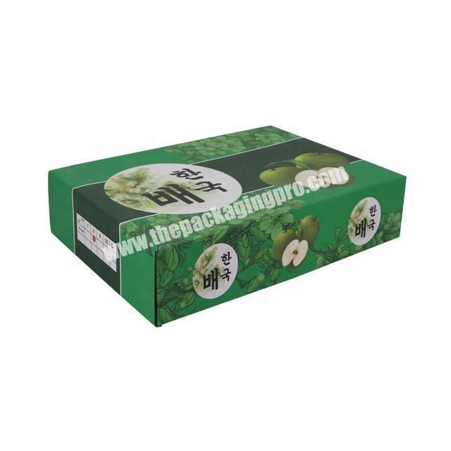 Seasonal fruit  pears box Food grade safety, pollution free and environmental protection paper favor box