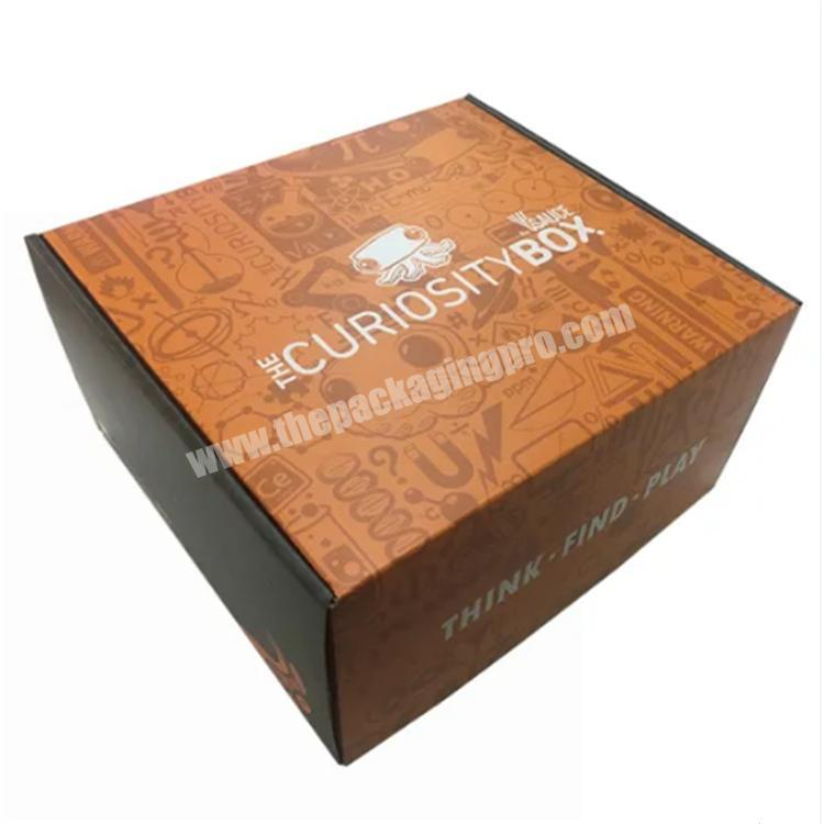 Manufacturer shipping boxes custom logo colored shipping box packaging boxes