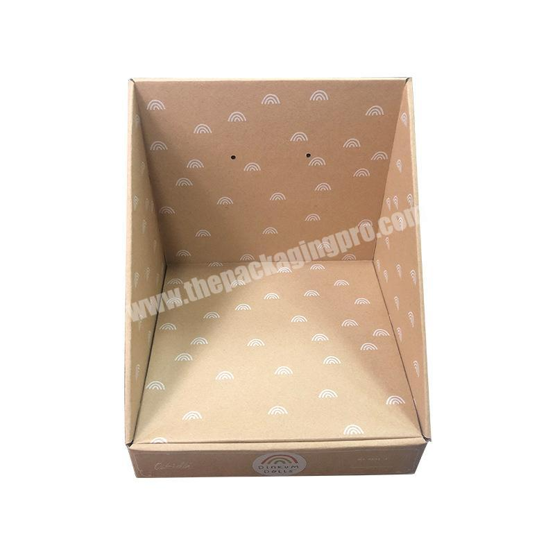 Manufacturer shipping corrugated box cardboard counter top display paperboard display rack