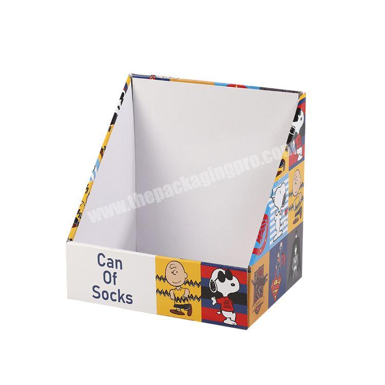 Wholesale shipping corrugated box cardboard counter top display paperboard display rack