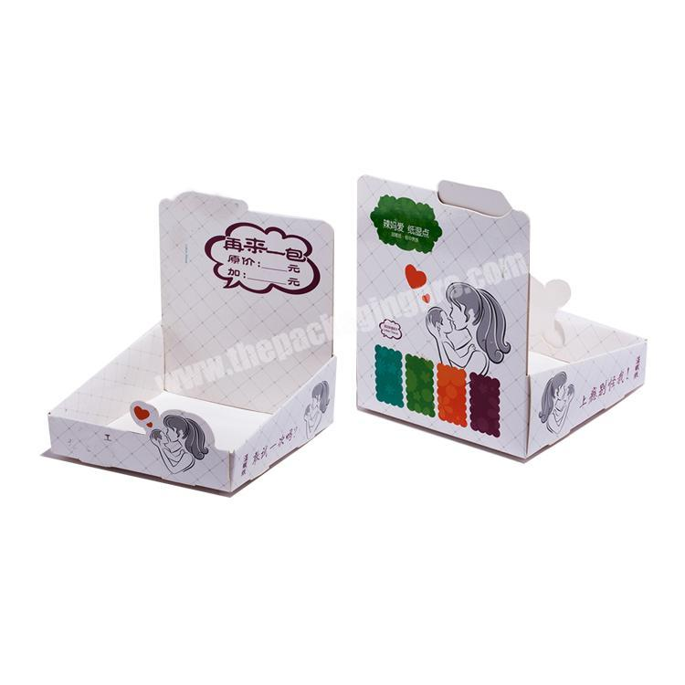 Supplier shipping corrugated box cardboard counter top display paperboard display rack
