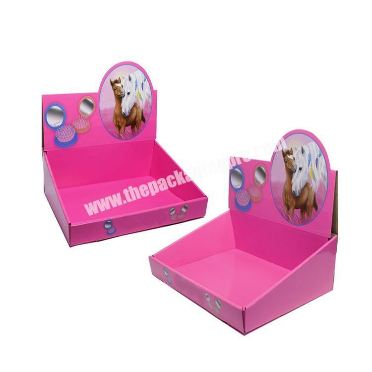 Supplier shipping corrugated box cardboard display table counter display rack paperboard