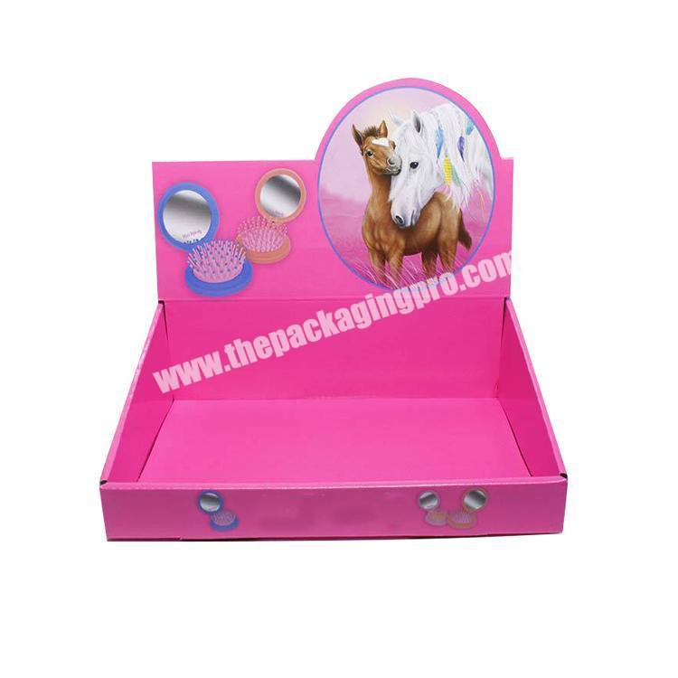 Wholesale shipping corrugated box cardboard display table counter display rack paperboard