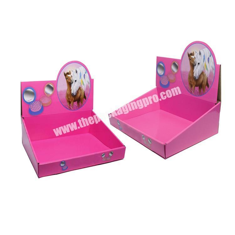 Factory shipping corrugated box cardboard display table counter display rack paperboard