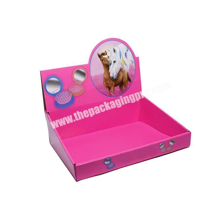 Manufacturer shipping corrugated box cardboard display table counter display rack paperboard