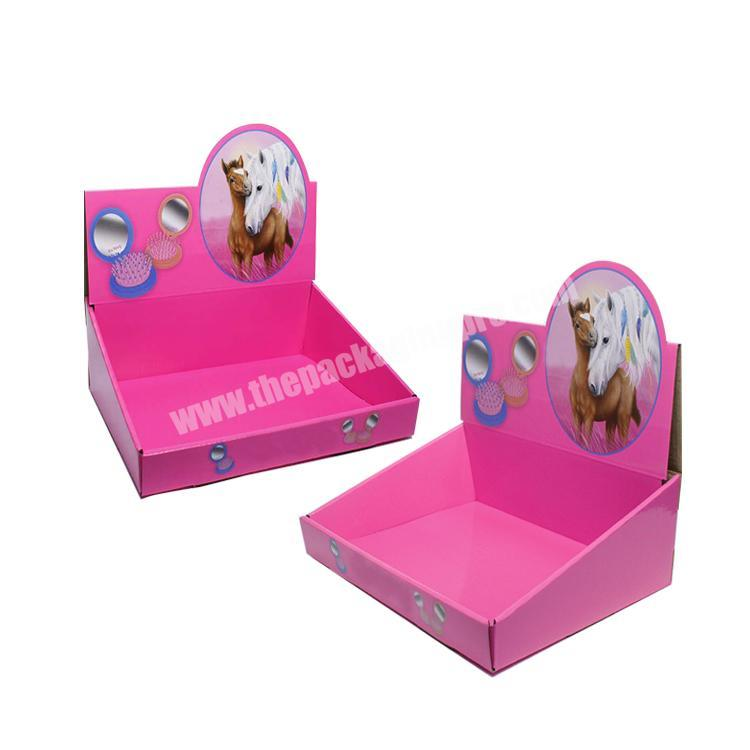 Factory shipping corrugated box cardboard retail displays counter display rack paperboard