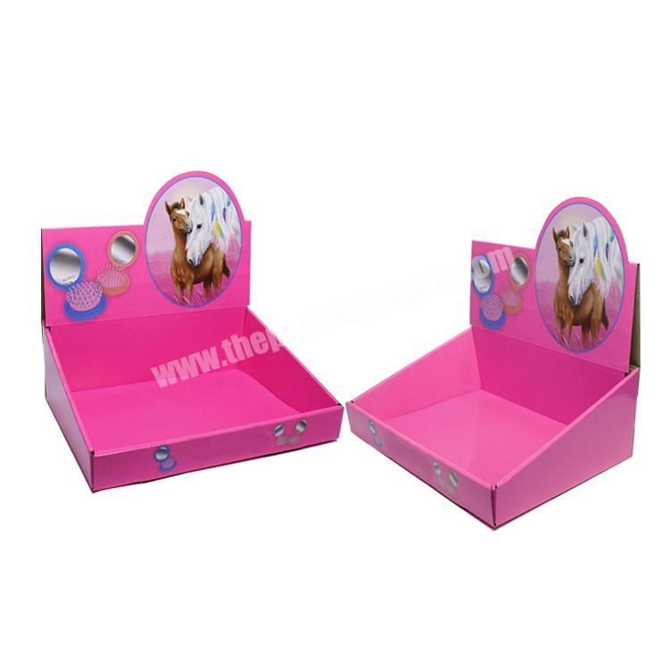 Supplier shipping corrugated box cardboard retail displays counter display rack paperboard