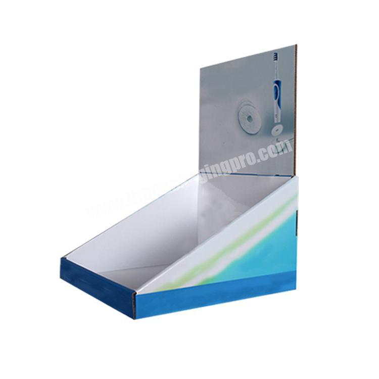 Supplier shipping corrugated box counter display rack paperboard cardboard display table