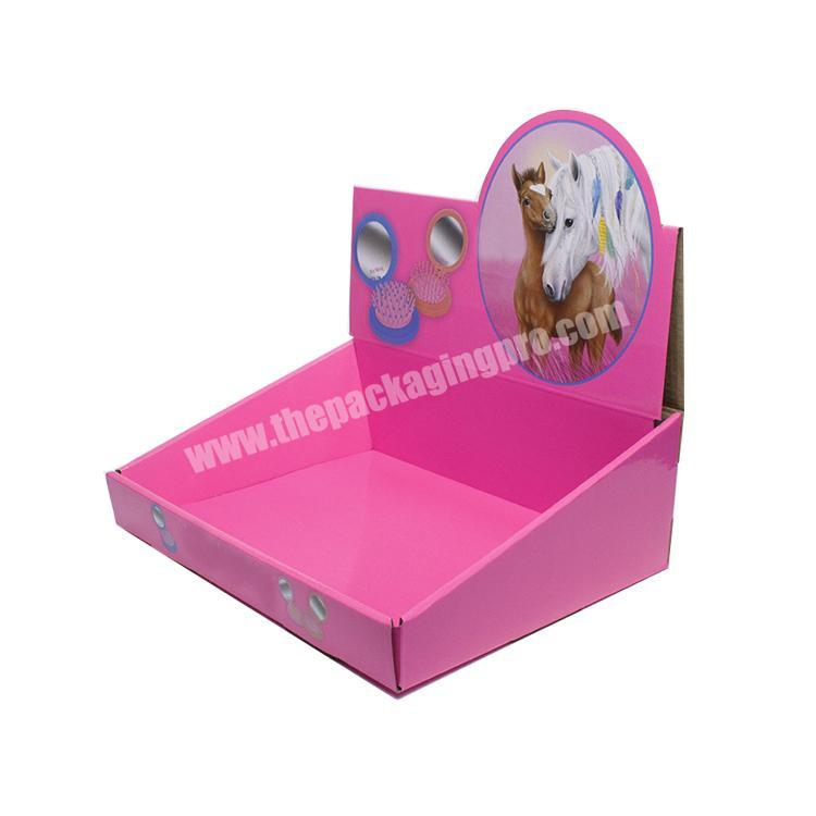 Manufacturer shipping corrugated box counter display rack paperboard cardboard display table