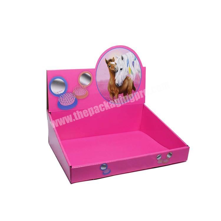 Wholesale shipping corrugated box counter display rack paperboard cardboard display table