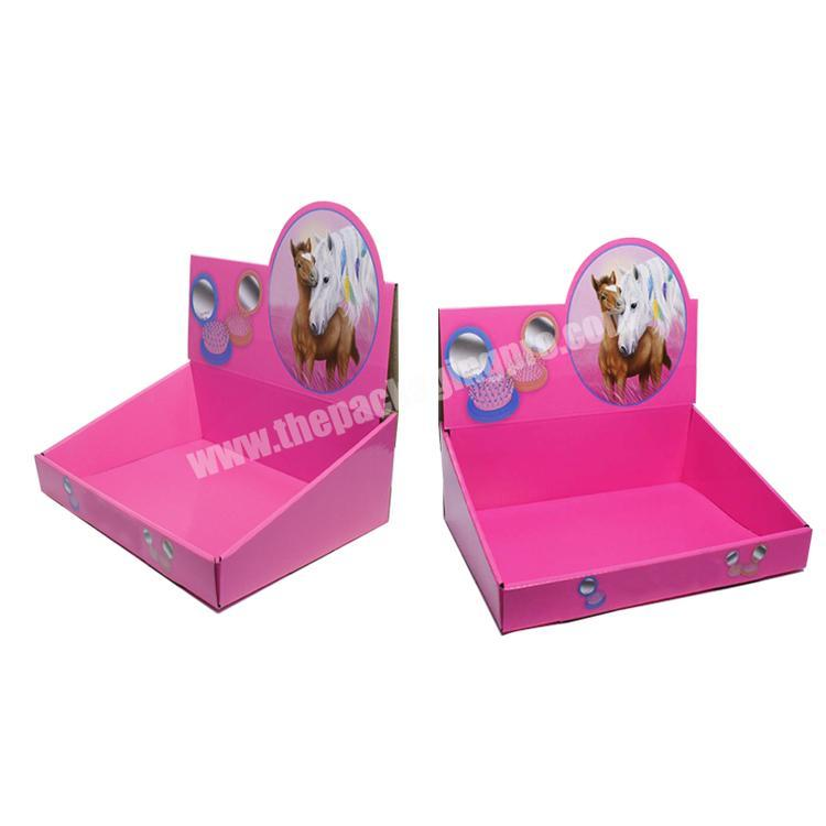 Factory shipping corrugated box counter display rack paperboard cardboard display table