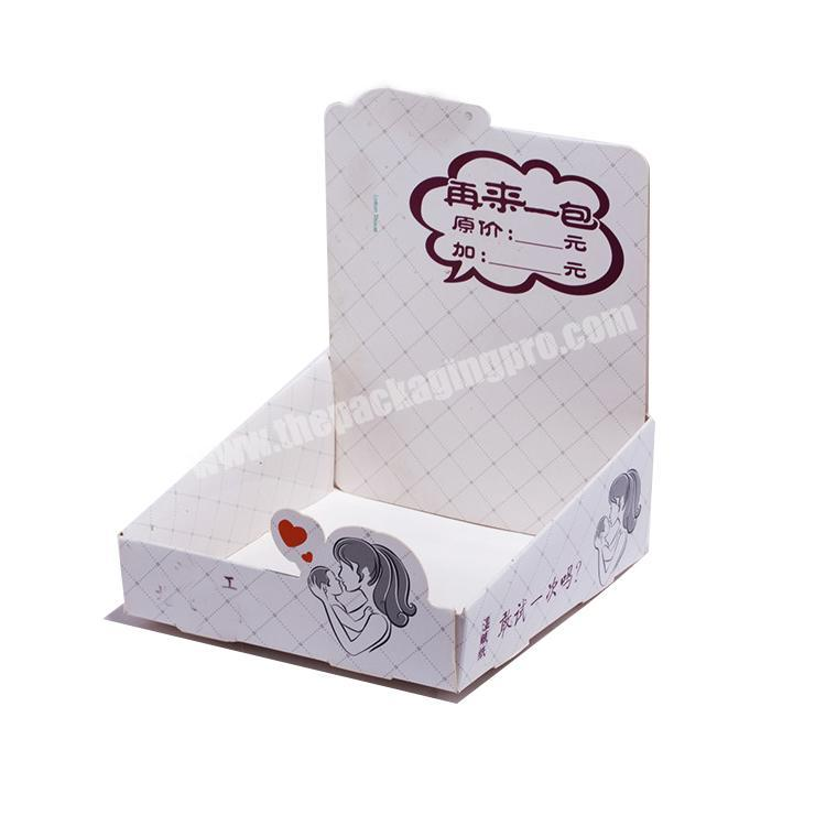 Wholesale shipping corrugated box counter display rack paperboard cardboard retail displays