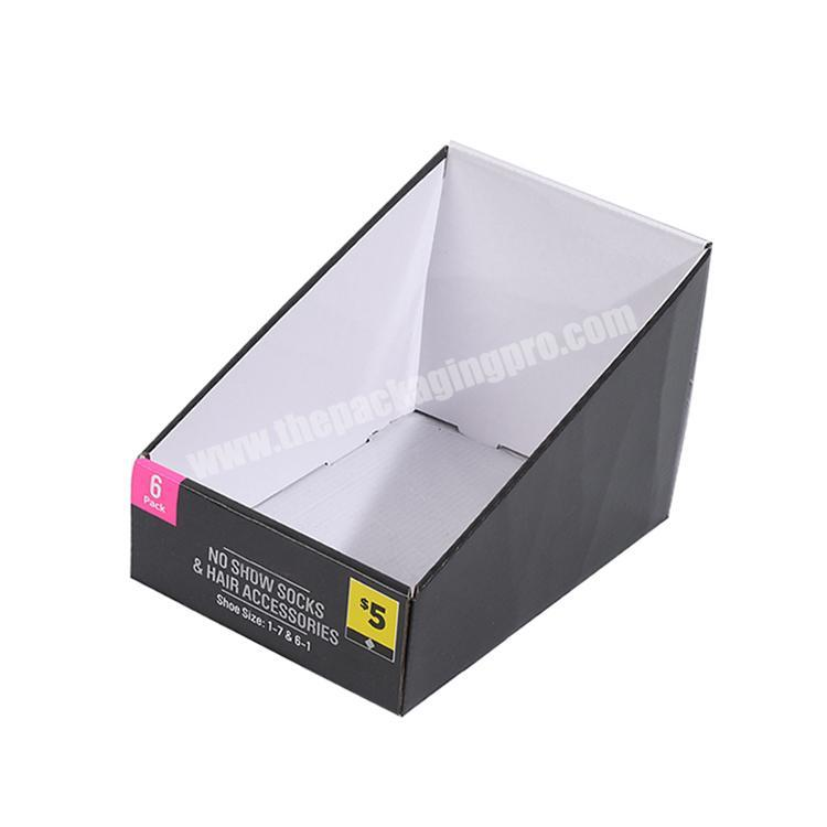 Factory shipping corrugated box counter display rack paperboard cardboard retail displays