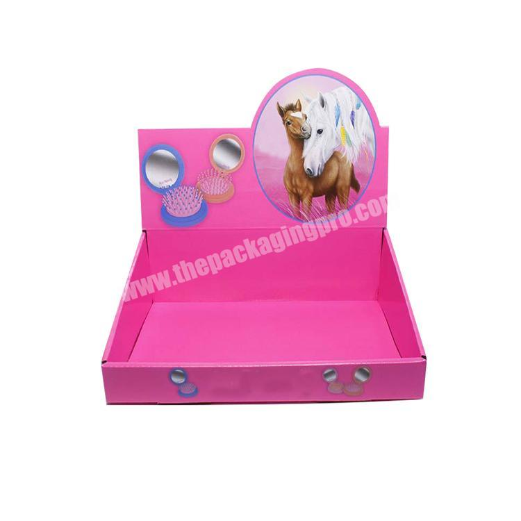 Supplier shipping corrugated box counter display rack paperboard cardboard retail displays