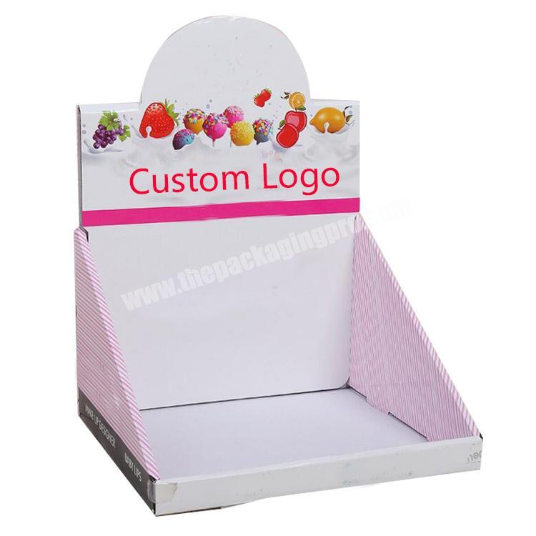 Wholesale shipping corrugated box paperboard counter display rack cardboard display table