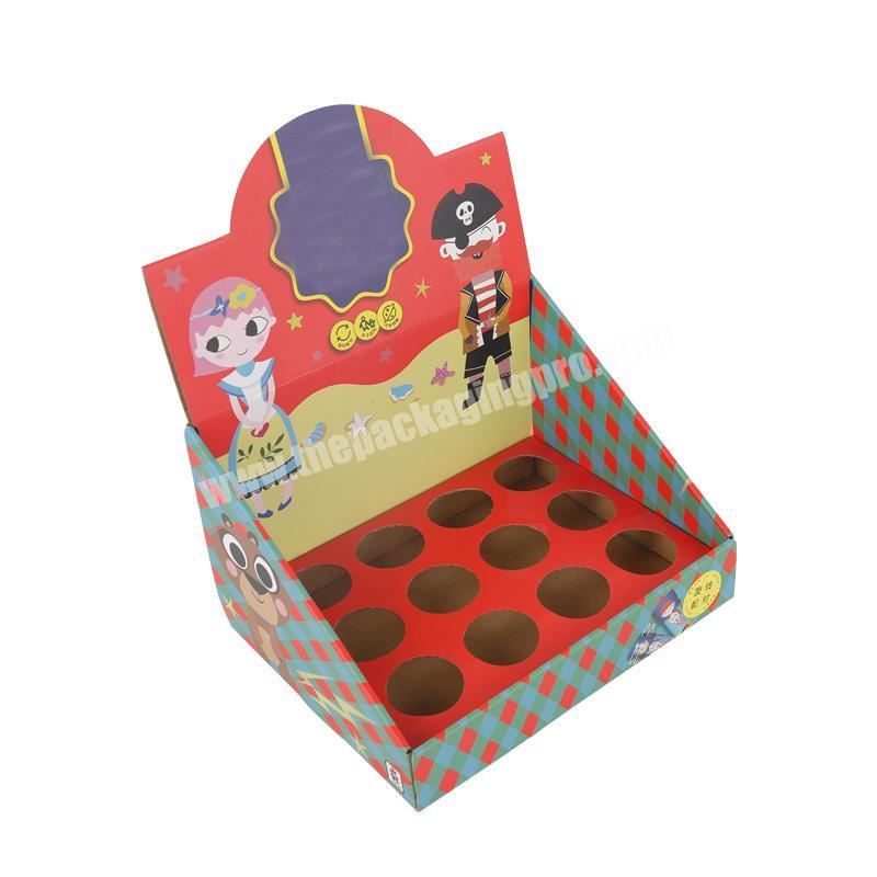 shipping corrugated box snack packaging box counter display rack cardboard