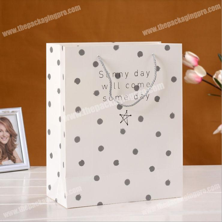shopping matte luxury paper bag closed