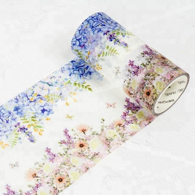 Significative flowers' meanings decorative adhesive custom printed washi paper tape