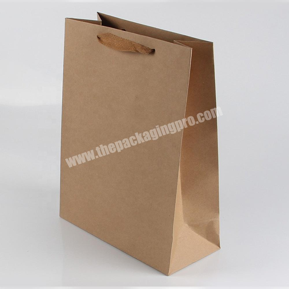 Wholesale size option recycled gift paper bags without printing
