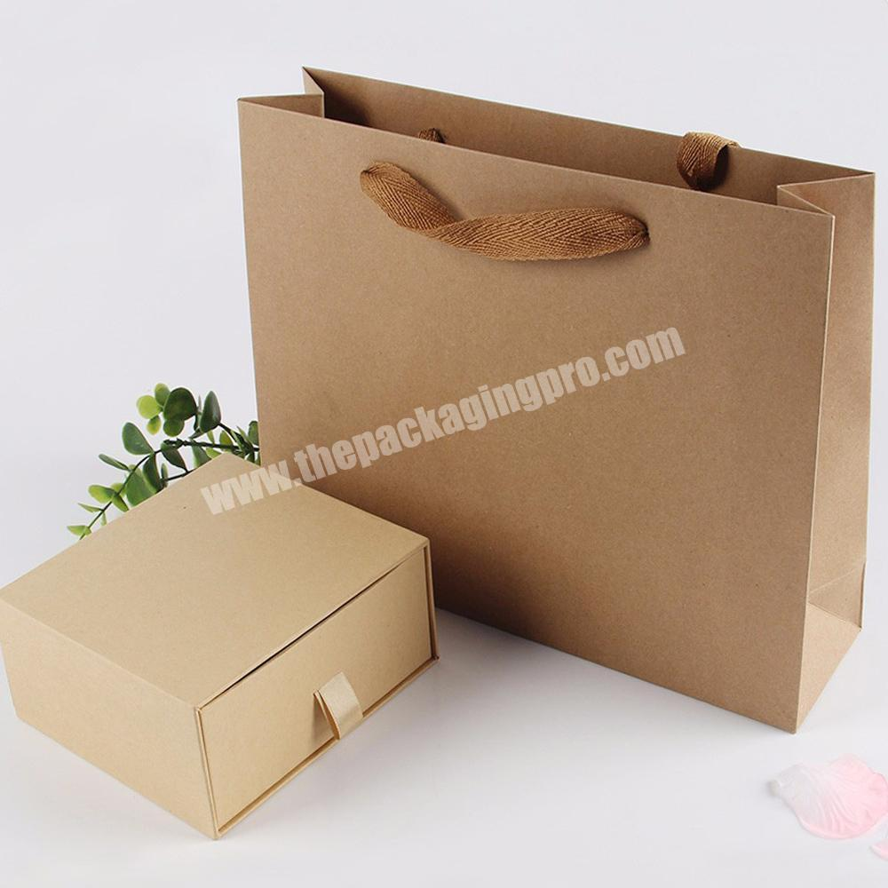 Shop size option recycled gift paper bags without printing