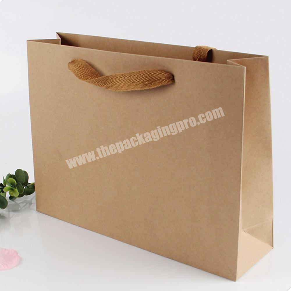 Supplier size option recycled gift paper bags without printing