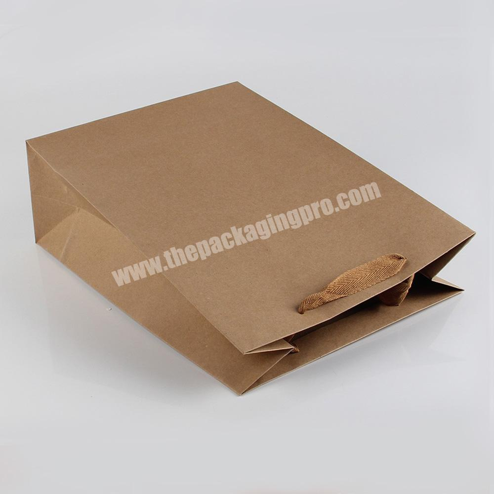 Factory size option recycled gift paper bags without printing