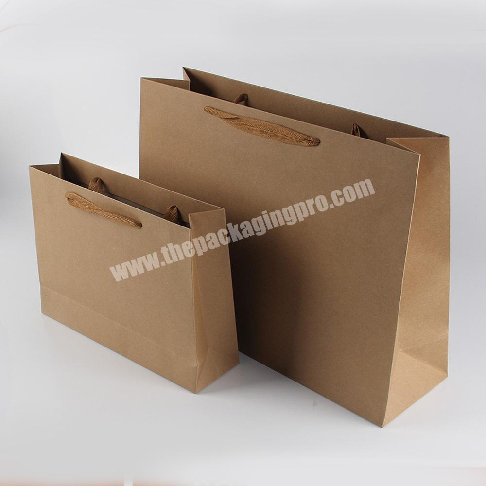 Manufacturer size option recycled gift paper bags without printing