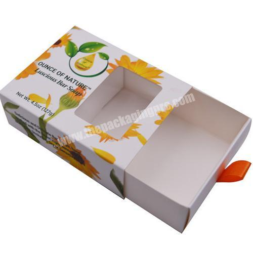 Custom Small and Exquisite Custom Logo Cake Cookie Bread Gift Packaging Drawer Box With PVC Window