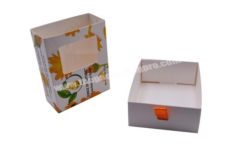 Shop Small and Exquisite Custom Logo Cake Cookie Bread Gift Packaging Drawer Box With PVC Window