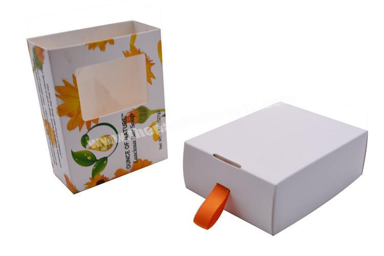 Supplier Small and Exquisite Custom Logo Cake Cookie Bread Gift Packaging Drawer Box With PVC Window