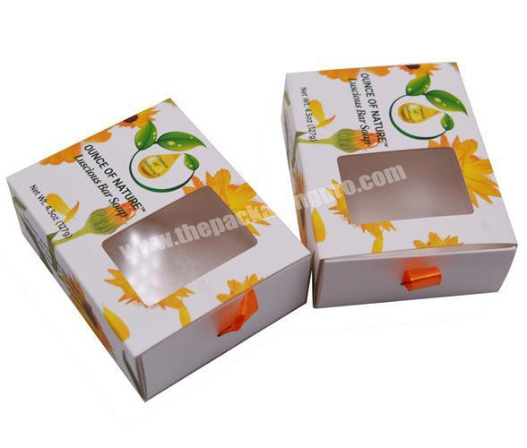 Wholesale Small and Exquisite Custom Logo Cake Cookie Bread Gift Packaging Drawer Box With PVC Window