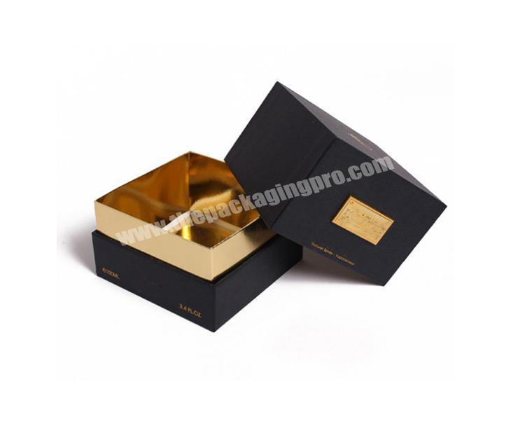 Small customized luxury rigid perfume box packaging with lid