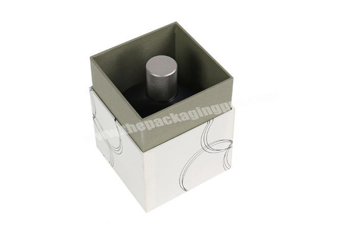 Supplier Small customized luxury rigid perfume box packaging with lid