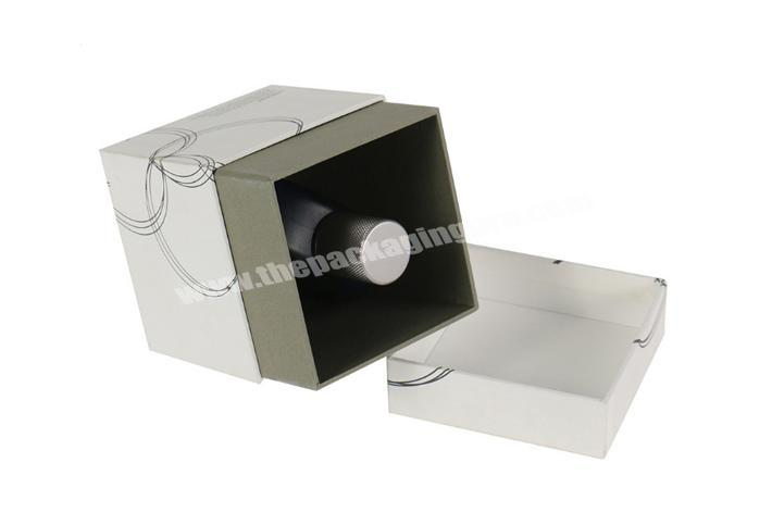 Factory Small customized luxury rigid perfume box packaging with lid
