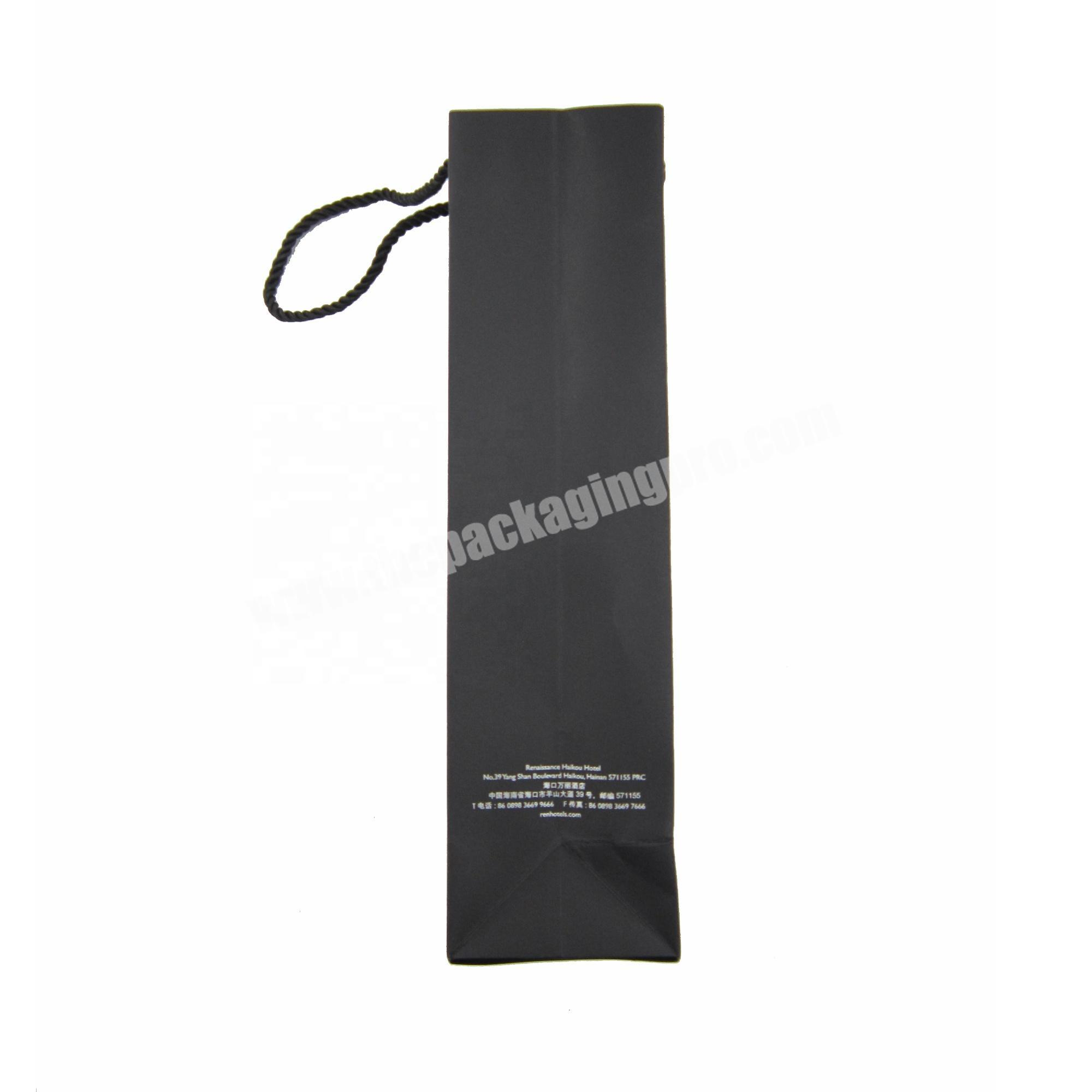 Small Gloss Craft Paper Bags Black Retail Shopping Paper Bag