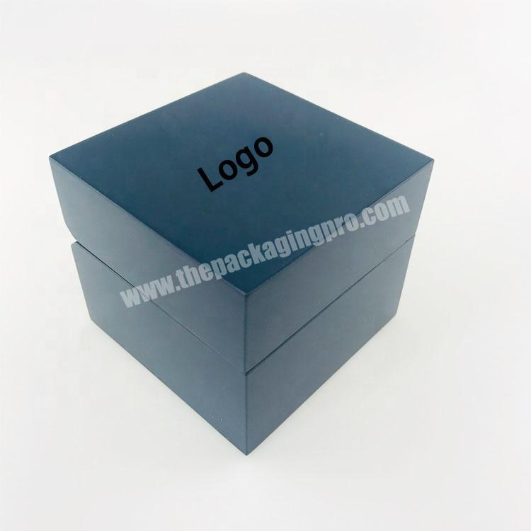 Wholesale Smooth matte surface lacquer painted wood packaging box with velvet inside